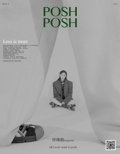 UNIXPACE Artist Veron Chan hair styling for POSH POSH Less Is More Cover-Angela Hui